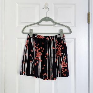 Urban Outfitters Cooperative Navy Blue Heart Skirt
